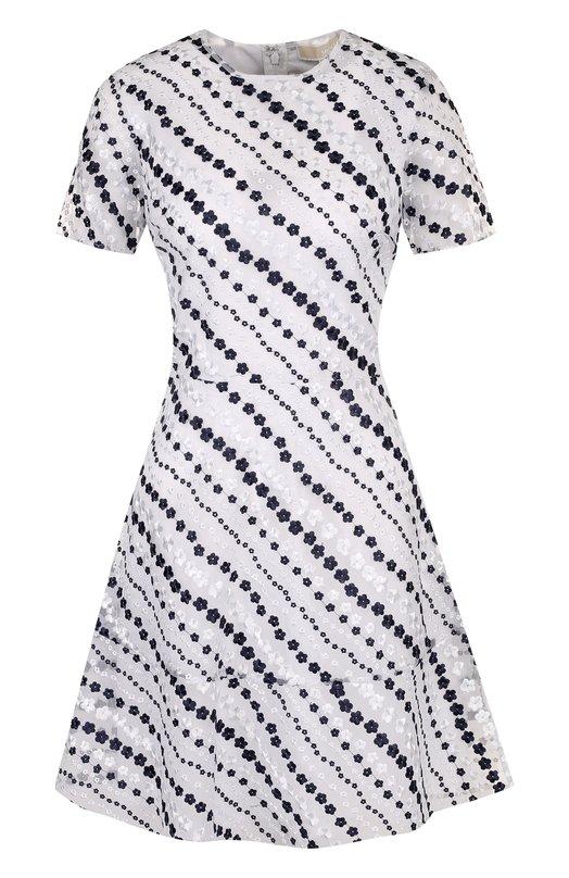 Купить Приталенное мини-платье с цветочной вышивкой MICHAEL Michael Kors, MS88XS88RV, Китай, Синий, Полиамид: 100%; Подкладка-полиэстер: 100%;