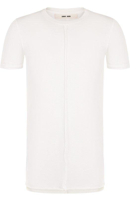 Купить Однотонная хлопковая футболка с круглым вырезом Damir Doma, CS1M0113/J1512, Италия, Белый, Хлопок: 100%;