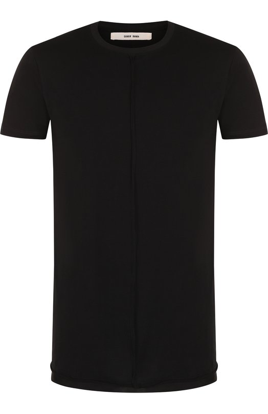 Купить Однотонная хлопковая футболка с круглым вырезом Damir Doma, CS1M0113/J1512, Италия, Черный, Хлопок: 100%;