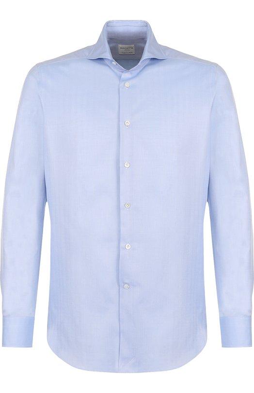 Хлопковая сорочка с воротником акула Bagutta, B363L/07774, Италия, Голубой, Хлопок: 100%;  - купить