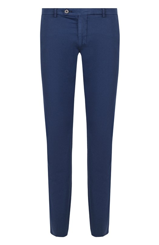 Купить Хлопковые брюки прямого кроя Berwich, SC/1/MX011X, Италия, Синий, Хлопок: 97%; Эластан: 3%;