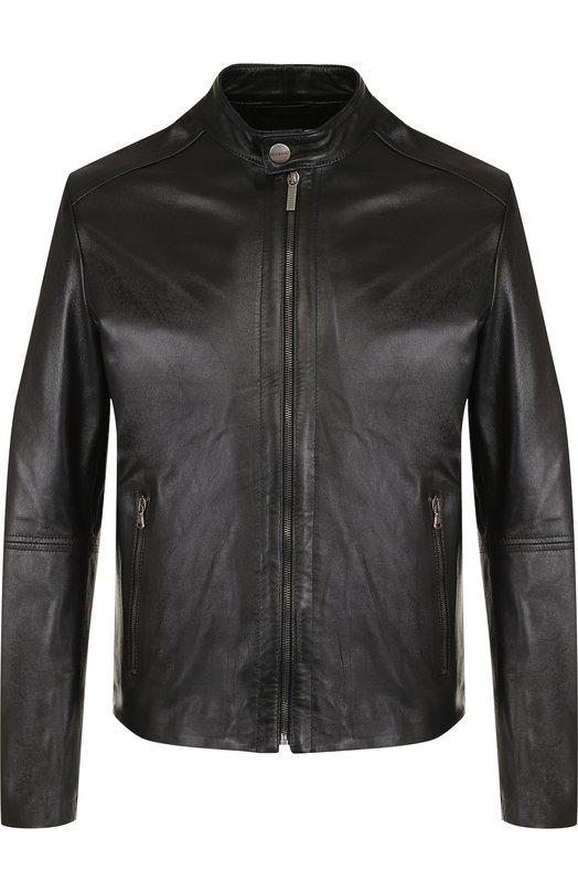 Купить Кожаная куртка на молнии Dirk Bikkembergs, C H 033 00 D 1140, Италия, Черный, Кожа натуральная: 100%; Подкладка-хлопок: 100%;