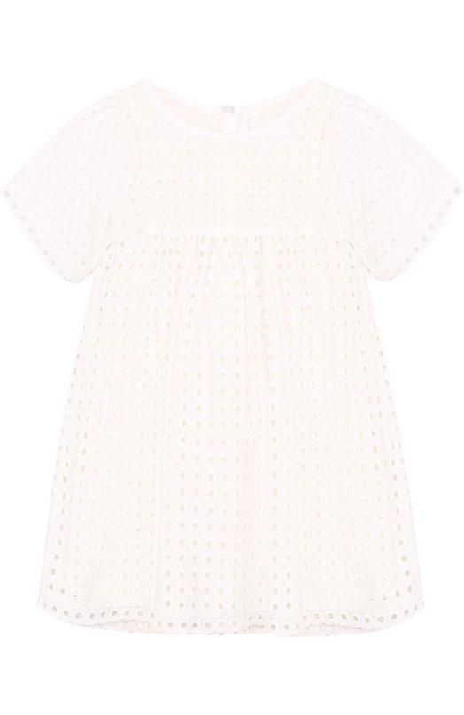 Хлопковое мини-платье с перфорацией Chloé Chloe