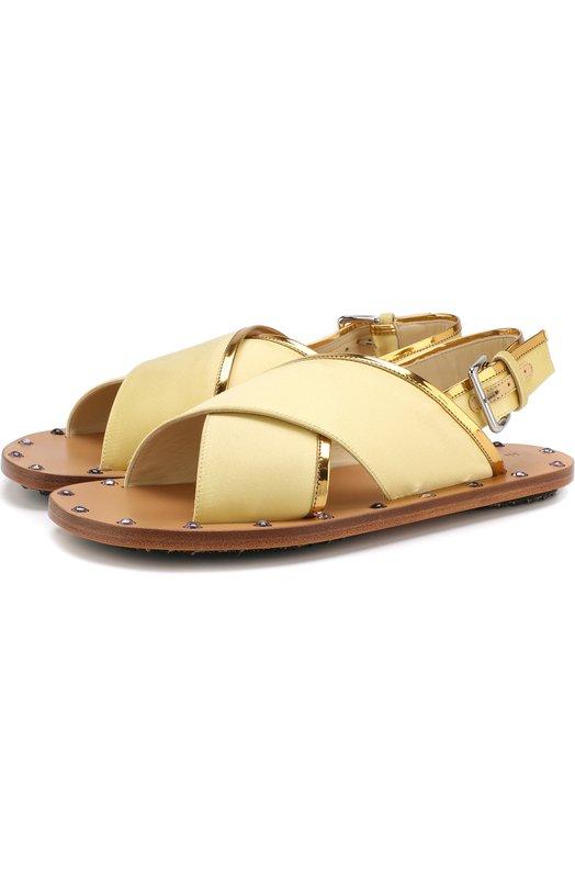 Шелковые сандалии с заклепками Marni