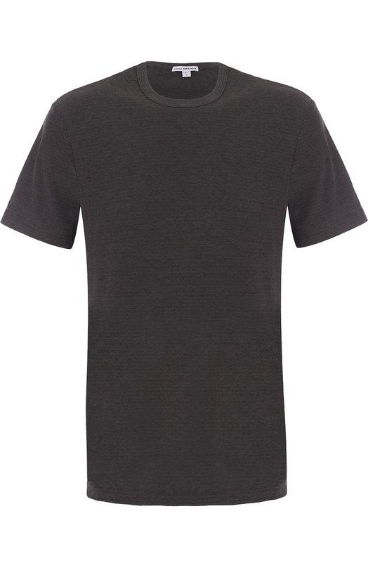 Купить Хлопковая футболка с круглым вырезом James Perse, MRMS3170, США, Серый, Хлопок: 73%; Полиэстер: 27%;