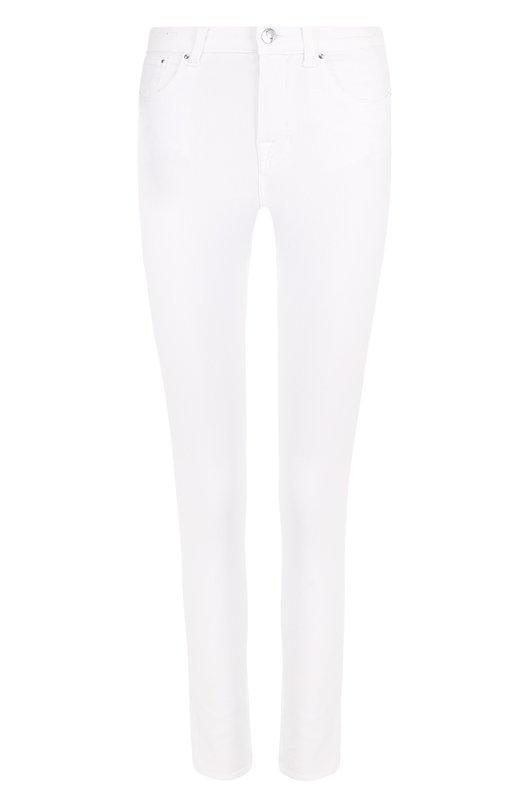 Купить Однотонные джинсы-скинни Jacob Cohen, GILDA-00911 00911-S/100 BIANC0, Италия, Белый, Хлопок: 57%; Эластан: 5%; Лиоселл: 21%; Полиэстер: 17%;