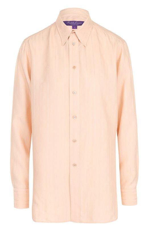 Купить Блуза свободного кроя из смеси вискозы и шелка Ralph Lauren, 290698311, Италия, Светло-розовый, Вискоза: 65%; Шелк: 35%;