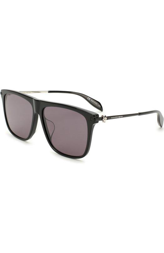 Купить Солнцезащитные очки Alexander McQueen, AM0106SA 001, Италия, Черный
