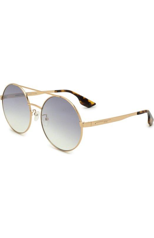Купить Солнцезащитные очки Alexander McQueen, MQ0092 002, Китай, Золотой