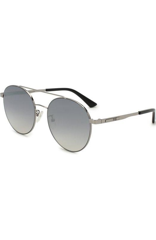 Купить Солнцезащитные очки Alexander McQueen, MQ0107SK 003, Китай, Серебряный