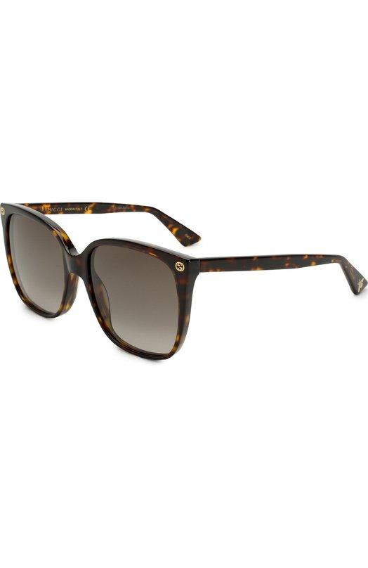 Купить Солнцезащитные очки Gucci, GG0022 003, Италия, Коричневый