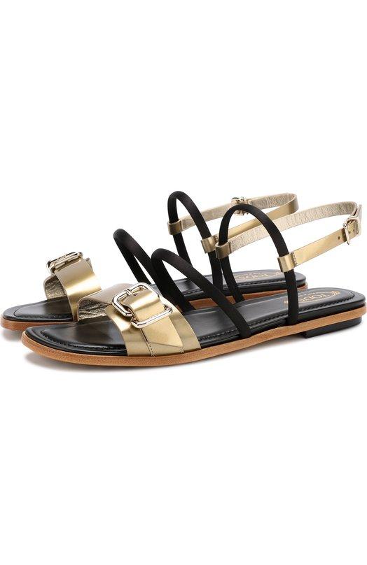 Кожаные сандалии с ремешками Tod's