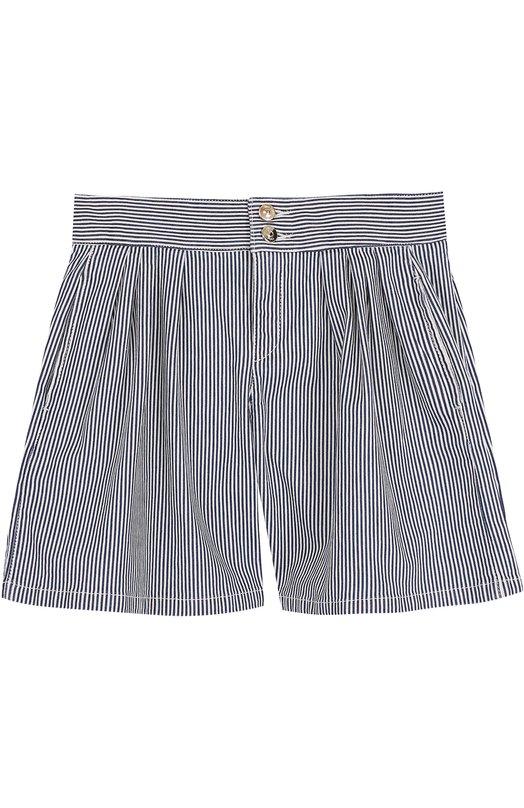 Джинсовые шорты с защипами в полоску Chloé Chloe