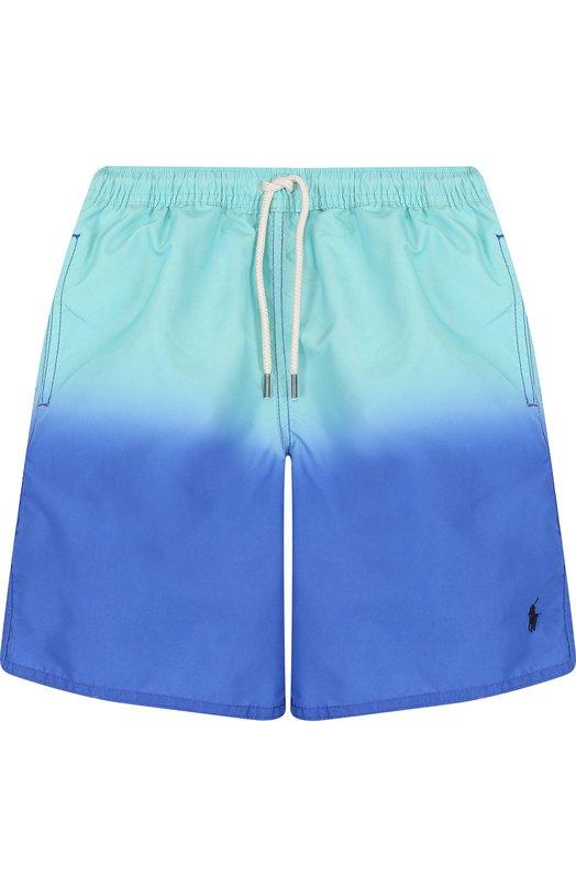Купить Плавки-шорты с градиентом Polo Ralph Lauren, 323692224, Китай, Синий, Полиэстер: 100%; Подкладка-полиэстер: 100%;