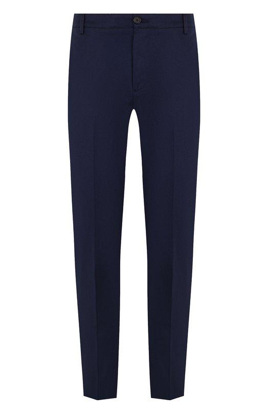 Купить Хлопковые брюки прямого кроя Kenzo, 5PA2121TA, Тунис, Темно-синий, Эластан: 2%; Хлопок: 100%;