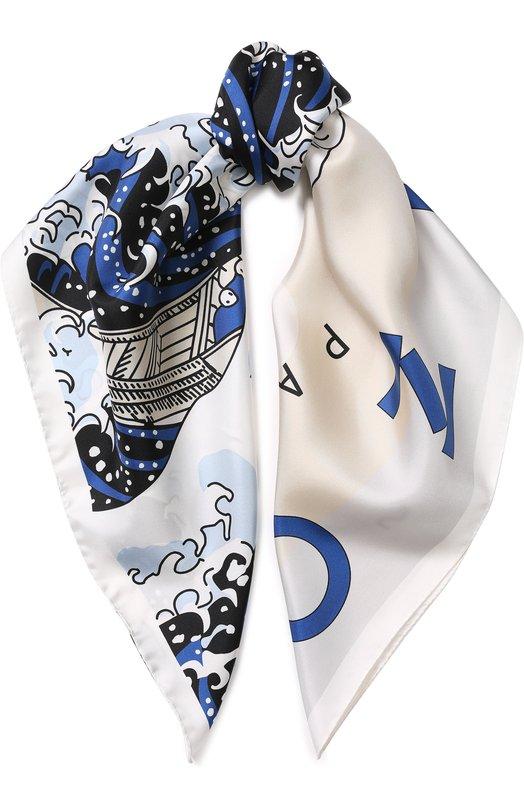 Шелковый платок с принтом Kenzo