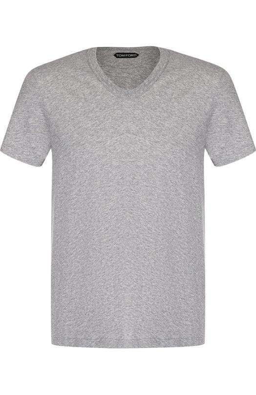 Купить Хлопковая футболка Tom Ford, BP402/TFJ894, Италия, Серый, Хлопок: 100%;