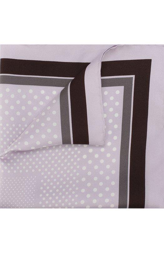 Купить Шелковый платок с узором Tom Ford, 3TF101/TF312, Италия, Сиреневый, Шелк: 100%;