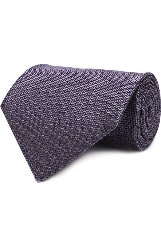 Купить Шелковый галстук Tom Ford, 3TF30/XTF, Италия, Сиреневый, Шелк: 100%;