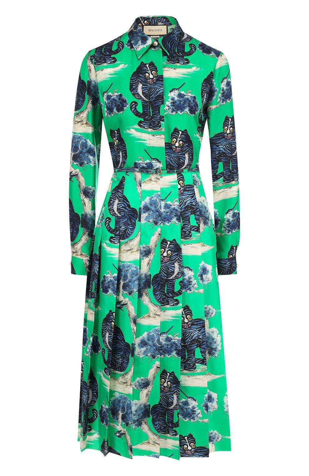 Платье Цвет Зеленый Купить В