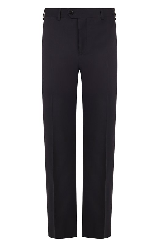 Купить Шерстяные брюки прямого кроя Emporio Armani, W1P0E0/01504, Египет, Темно-синий, Подкладка-ацетат: 65%; Подкладка-вискоза: 35%; Шерсть: 100%;