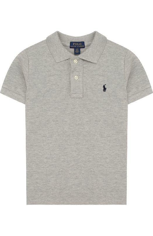 Купить Хлопковое поло с логотипом бренда Polo Ralph Lauren, 321603252, Китай, Серый, Хлопок: 100%;