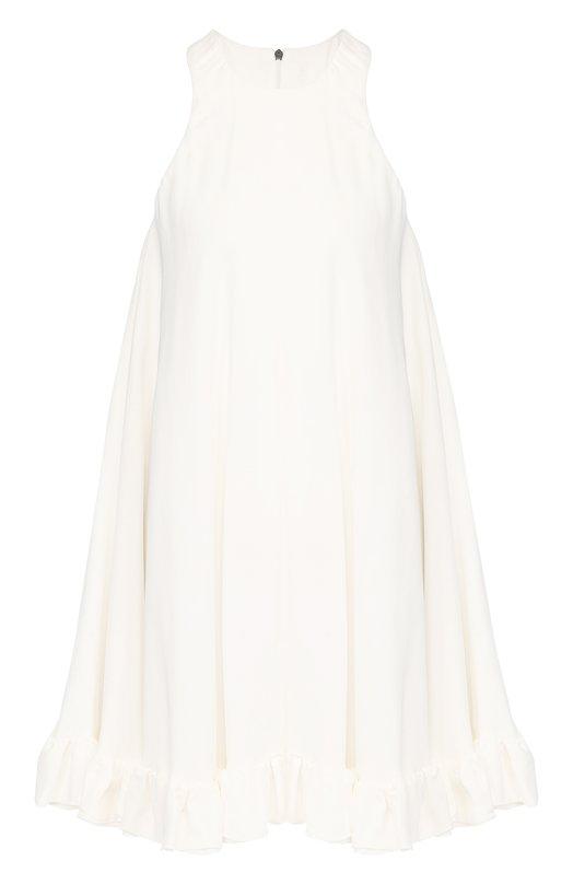 Купить Мини-платье из вискозы свободного кроя MSGM, 2441MDA176 184118, Италия, Белый, Вискоза: 100%; Подкладка-полиэстер: 100%;