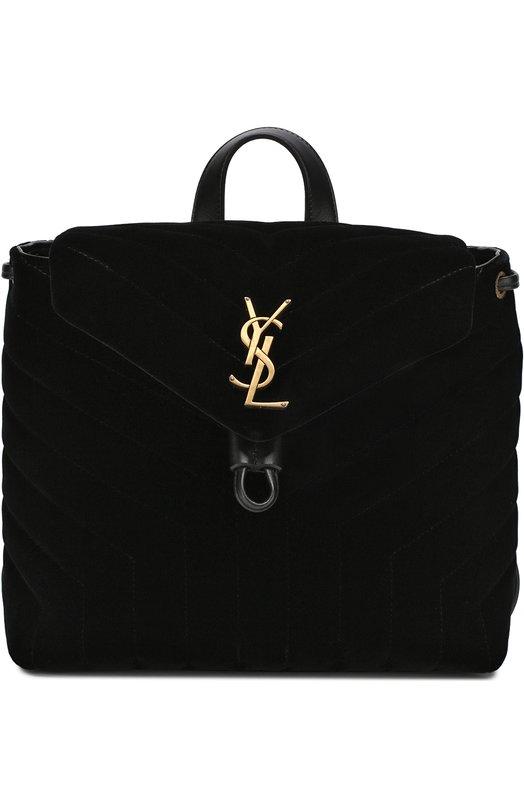 Купить Рюкзак LouLou Monogram small Saint Laurent, 487220/GV087, Италия, Черный, Текстиль: 100%;