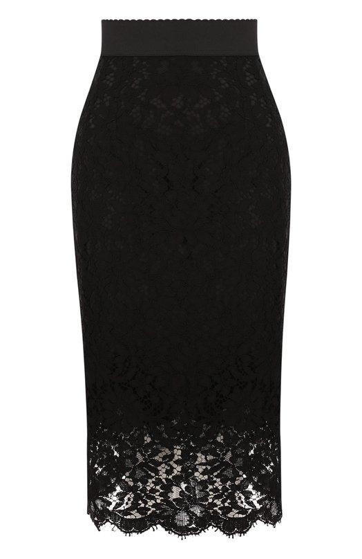 Кружевная юбка-миди с широким поясом Dolce & Gabbana Dolce & Gabbana