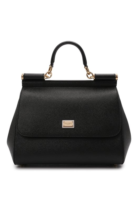 Купить Сумка Sicily medium Dolce & Gabbana, BB6002/A1001, Италия, Черный, Кожа натуральная: 100%; Кожа: 100%;