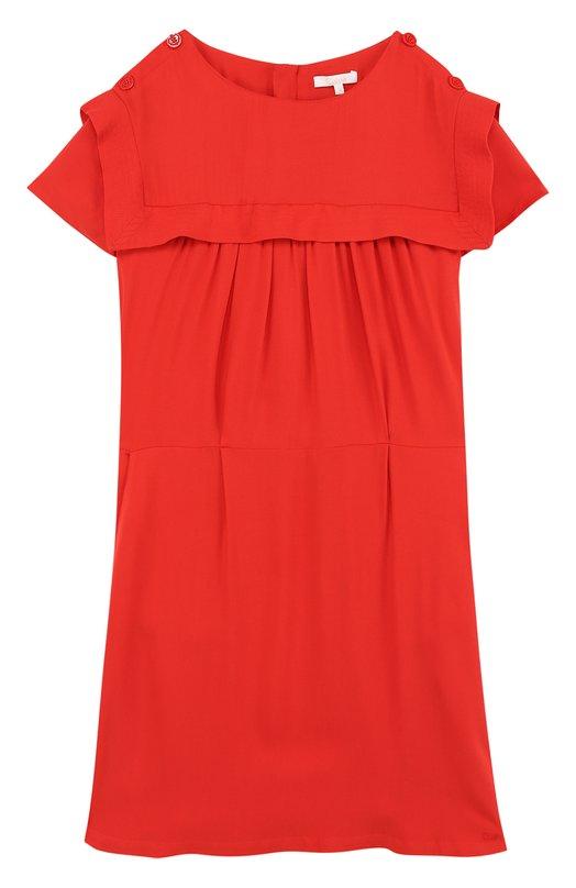 Мини-платье из вискозы с эластичным поясом Chloé Chloe