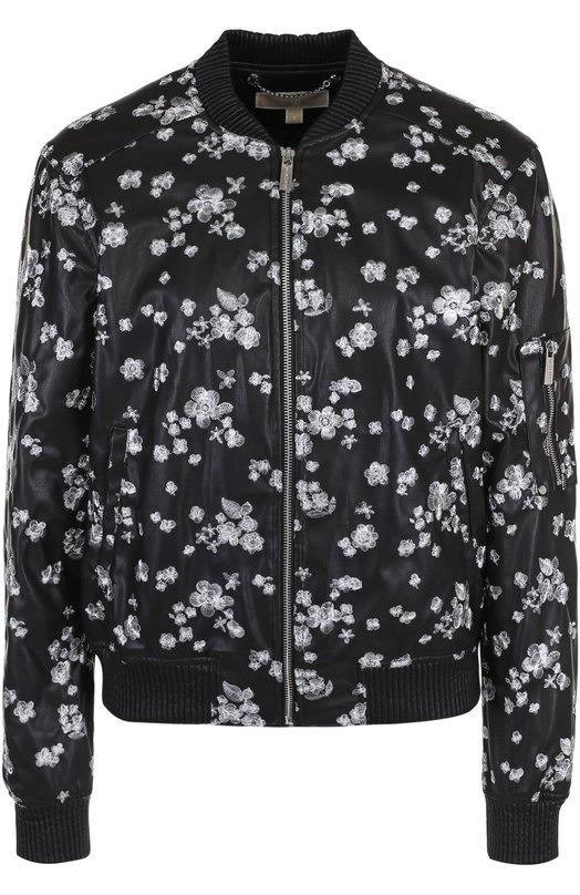 Купить Кожаная куртка на молнии с декоративной отделкой MICHAEL Michael Kors, MS81ELL8KZ, Китай, Черный, Подкладка-полиэстер: 97%; Подкладка-эластан: 3%; Полиэстер: 100%;