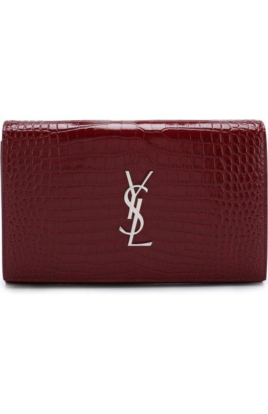 Купить Сумка Monogram Kate small Saint Laurent, 377829/DND1N, Италия, Красный, Кожа натуральная: 100%;