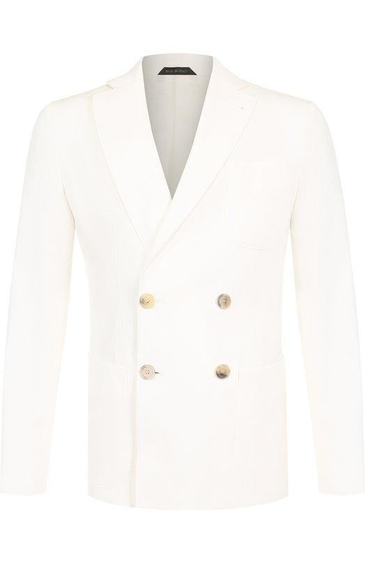 Пиджак из смеси вискозы и хлопка Giorgio Armani
