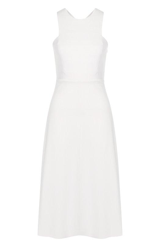 Купить Приталенное платье-миди из вискозы Dorothee Schumacher, 848304, Китай, Белый, Вискоза: 60%; Эластан: 5%; Полиамид: 35%; Подкладка-полиэстер: 100%;