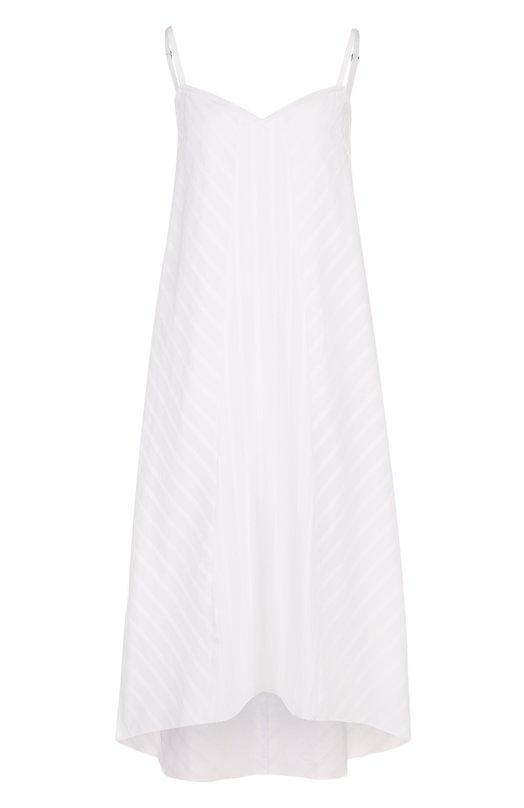 Купить Однотонное хлопковое платье свободного кроя Escada Sport, 5026123, Румыния, Белый, Хлопок: 100%;