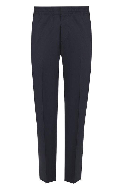 Хлопковые брюки прямого кроя с поясом на резинке  MSGM