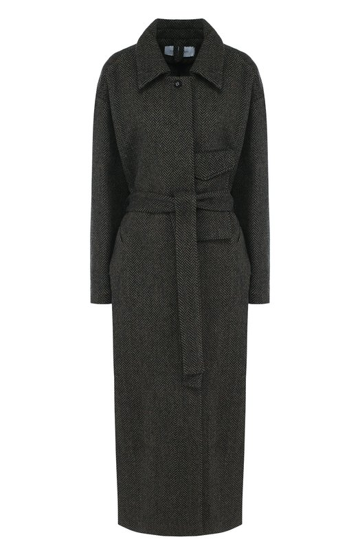 Купить Шерстяное пальто с поясом и капюшоном Walk of Shame, CT004/1-PS18, Россия, Серый, Шерсть: 100:%