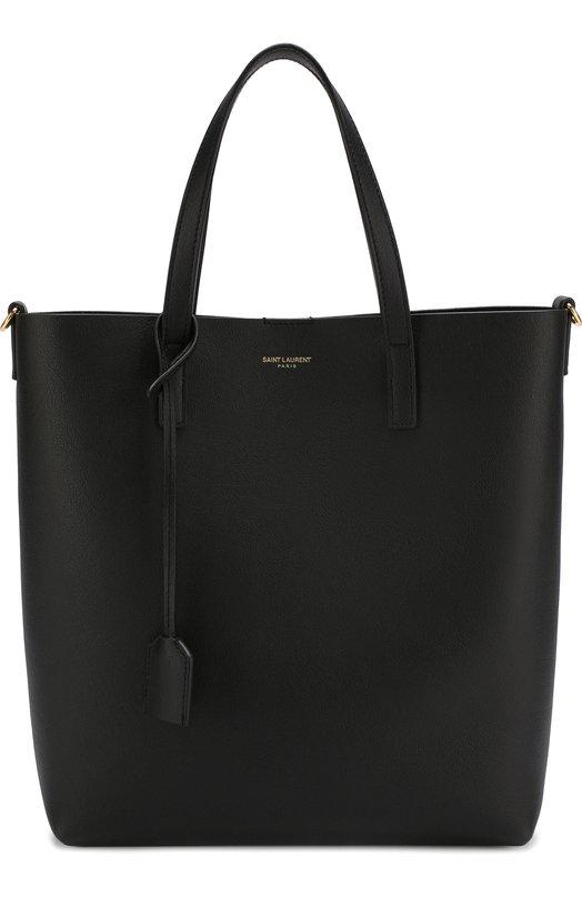 Купить Сумка-тоут Shopping Saint Laurent, 498612/CSV0J, Италия, Черный, Кожа натуральная: 100%;