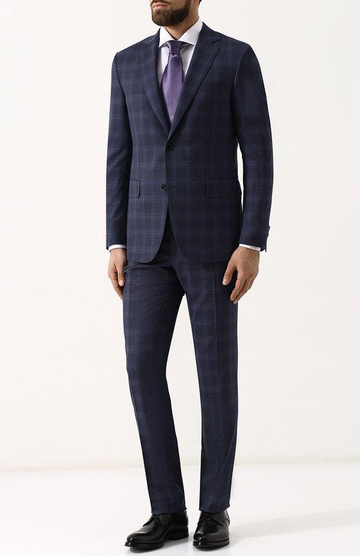 Купить Шерстяной костюм с пиджаком на двух пуговицах Pal Zileri, M33CZ22K2--33531, Италия, Синий, Шерсть: 100%; Подкладка-купра: 100%;