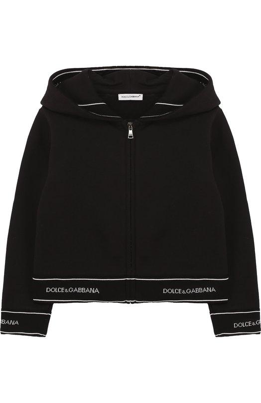 Хлопковый кардиган на молнии с капюшоном Dolce & Gabbana