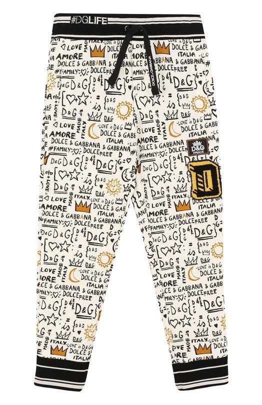 Хлопковые джоггеры с принтом Dolce & Gabbana