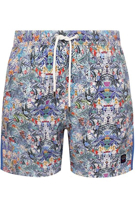 Купить Плавки-шорты с принтом Paul&Shark, E18P5033, Италия, Синий, Полиэстер: 100%;