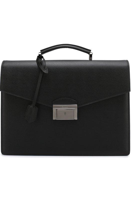 Кожаный портфель с клапаном Brioni