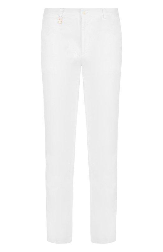 Купить Хлопковые брюки прямого кроя Billionaire, I18C MRT0274 BTE004N, Италия, Белый, Хлопок: 98%; Эластан: 2%;
