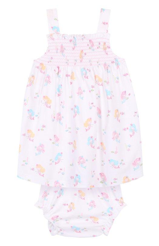 Купить Хлопковый комплект из платья и трусов Kissy Kissy, S1848443P, Перу, Разноцветный, Хлопок: 100%;