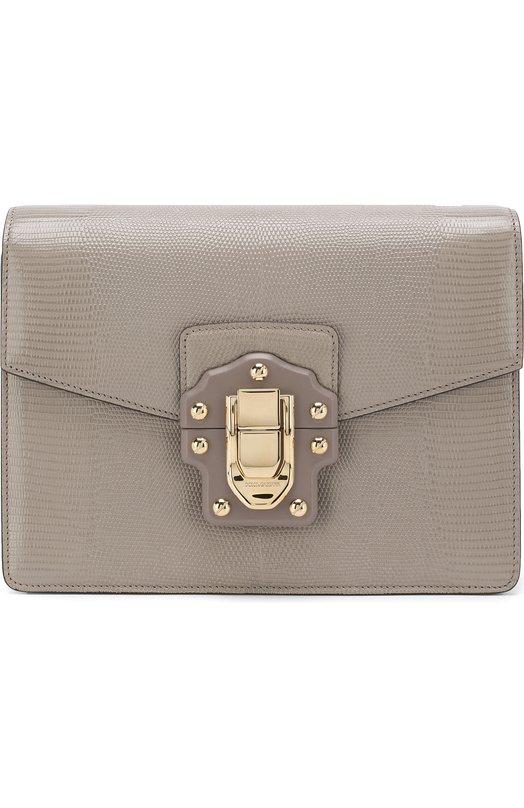 Купить Сумка Lucia Dolce & Gabbana, BB6350/A1095, Италия, Серый, Кожа натуральная: 100%;