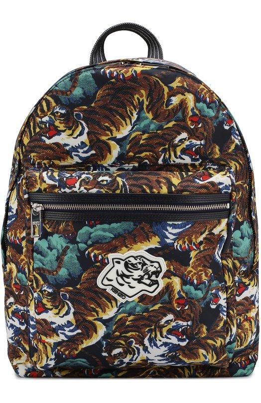 Купить Текстильный рюкзак с принтом Kenzo, 5SF213F25, Китай, Разноцветный, Полиэстер: 100%;