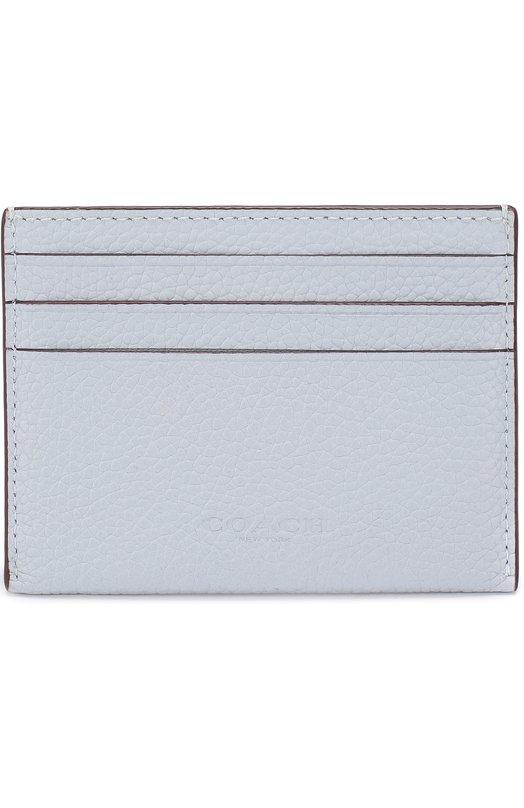 Купить Кожаный футляр для кредитных карт Coach, 28686, Филиппины, Голубой, Кожа натуральная: 100%;