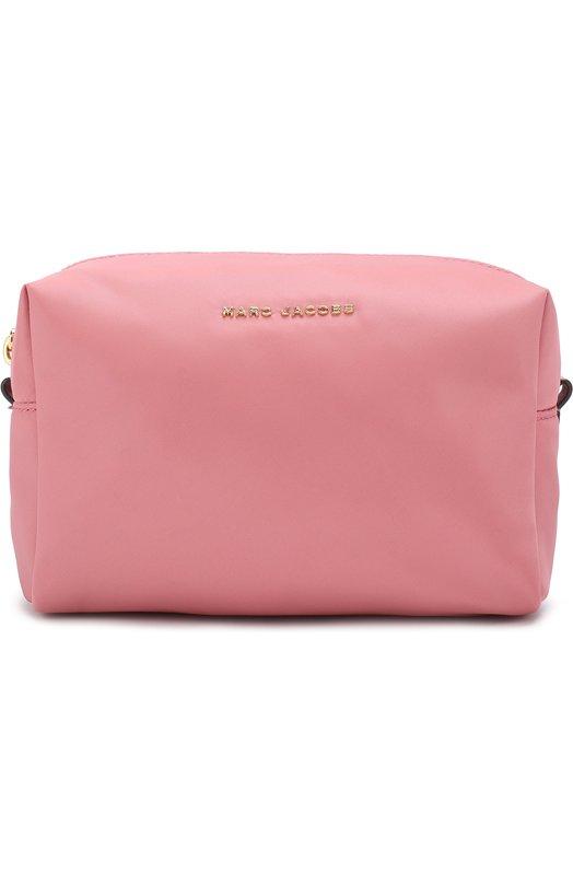 Купить Текстильная косметичка на молнии с логотипом бренда Marc Jacobs, M0013616, Китай, Розовый, Текстиль: 100%;